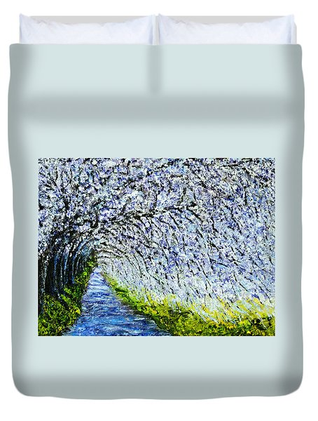 Flowering Tree Lane Duvet Cover