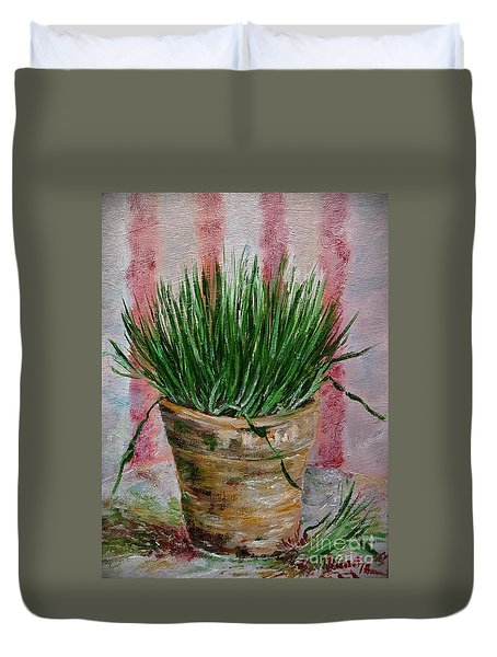 Flowerpot With Wheat Duvet Cover