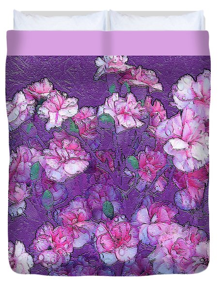 Flowers #063 Duvet Cover by Barbara Tristan