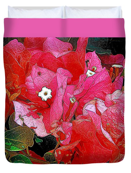 Flowers 14 In Abstract Duvet Cover