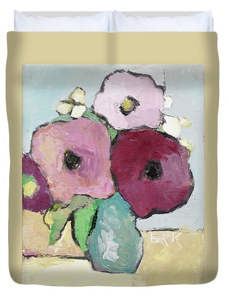 Flowers 1601 Duvet Cover by Becky Kim