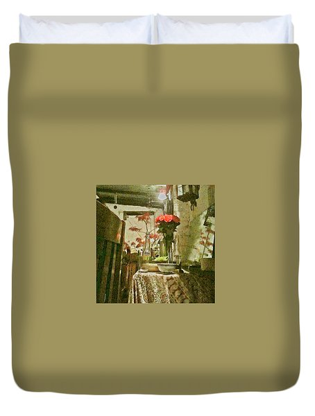 Flowers And Foliage Duvet Cover
