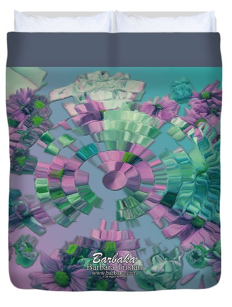 Duvet Cover featuring the photograph Flowers And Paper by Barbara Tristan