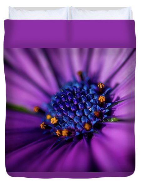 Duvet Cover featuring the photograph Flowers And Sand by Darren White