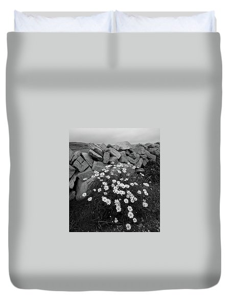Flowers And Stones Duvet Cover