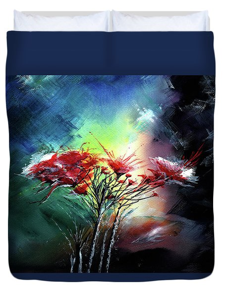Flowers Duvet Cover by Anil Nene