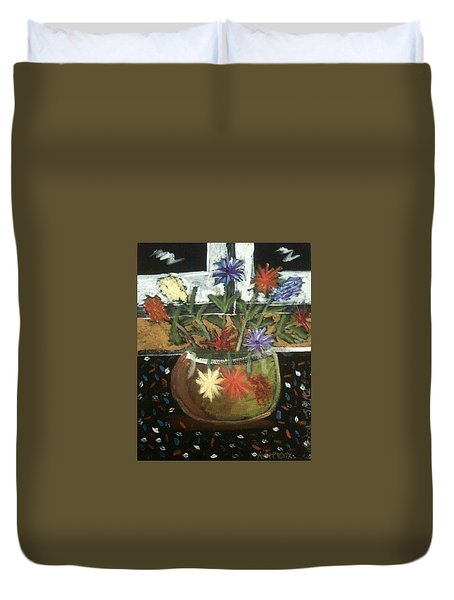 Flowers Duvet Cover by Artists With Autism Inc