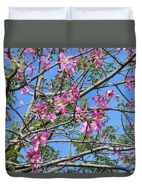 Flowers At Epcot Duvet Cover by Kay Gilley