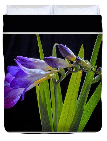 Flowers Backlite. Duvet Cover