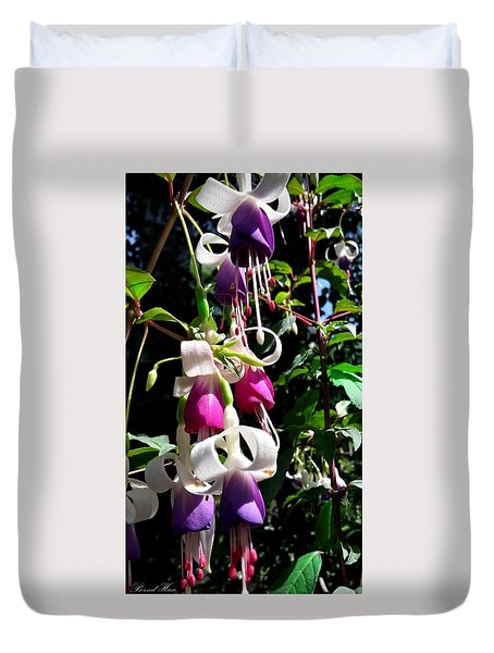 Duvet Cover featuring the photograph Flowers by Bernd Hau