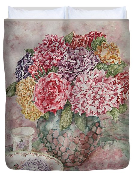 Flowers Arrangement  Duvet Cover by Kim Tran