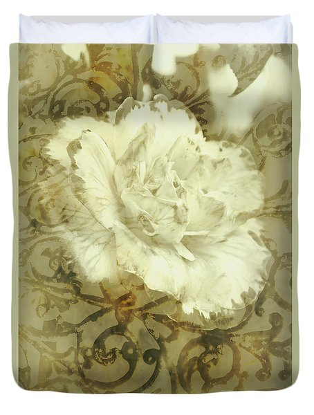 Flowers By The Window Duvet Cover