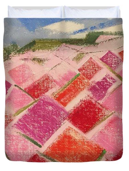 Flowers Fields Duvet Cover