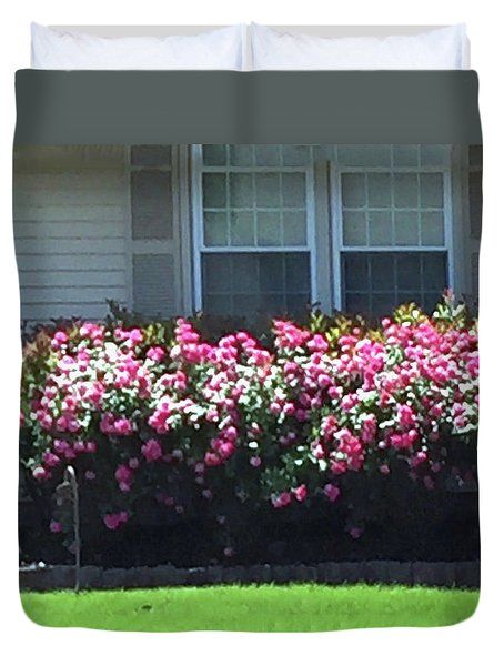 Duvet Cover featuring the photograph Flowers Floral Presentation Home Decorations Gifts For Christmas Holidays Birthday Anniversary Mom  by Navin Joshi