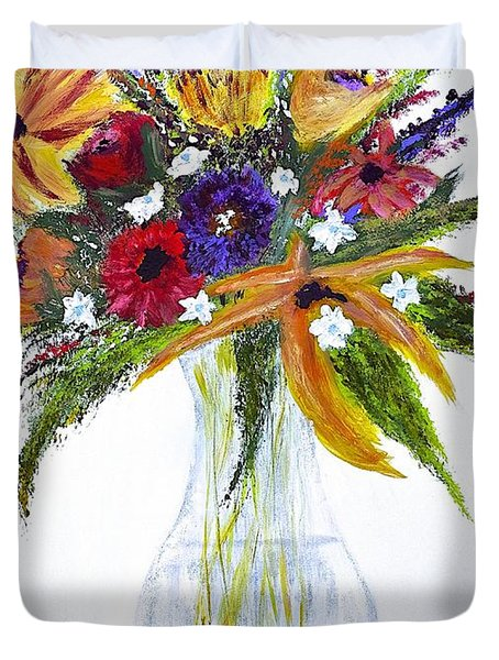 Flowers For An Occasion Duvet Cover by Dick Bourgault