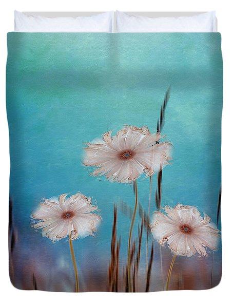 Duvet Cover featuring the digital art Flowers For Eternity 2 by Klara Acel