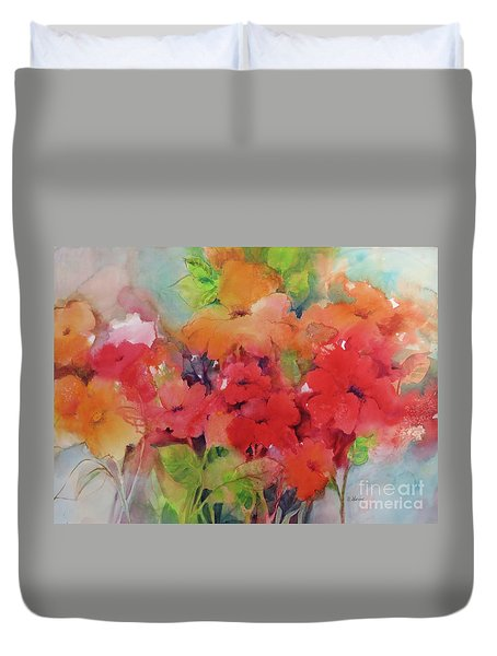 Flowers For Peggy Duvet Cover
