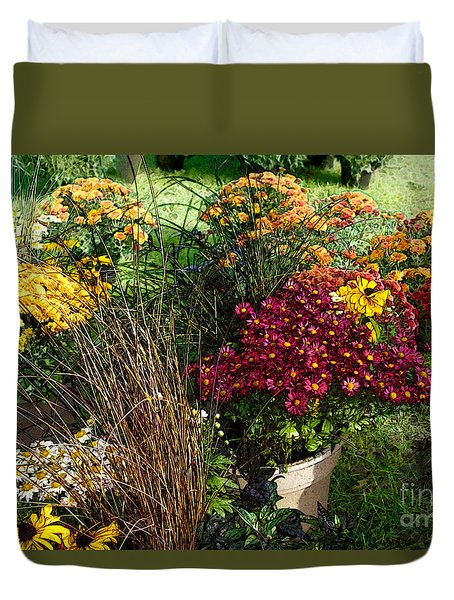 Flowers For Sale Duvet Cover by David Blank