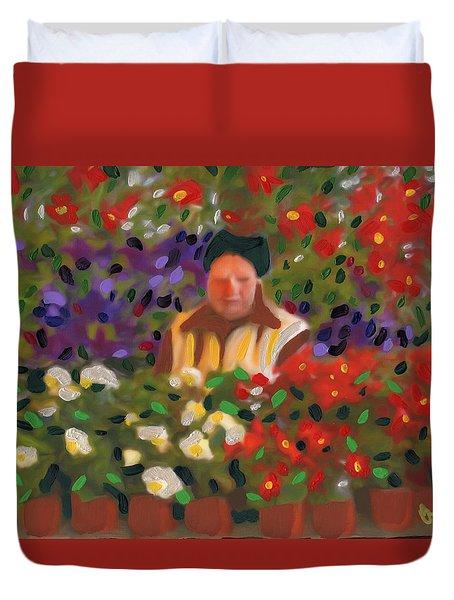 Flowers For Sale Duvet Cover