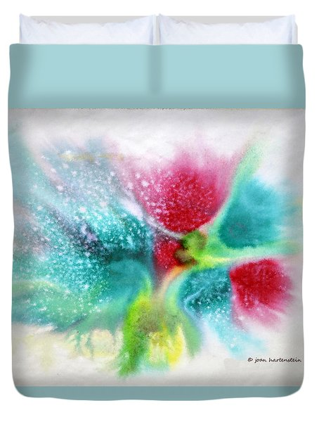 Flowers Forming Duvet Cover