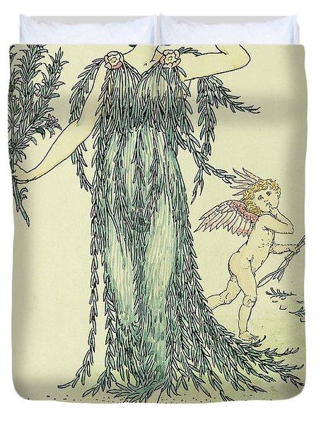 Flowers From Shakespeare's Garden  Rosemary Duvet Cover