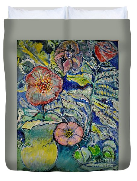 Flowers Gone Wild Duvet Cover