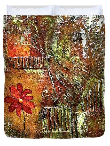 Flowers Grow Anywhere Duvet Cover