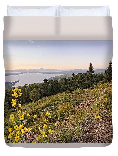Flowers Height Of Land Duvet Cover