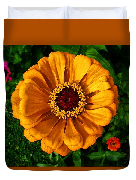 Duvet Cover featuring the photograph Flowers In A Flower 005 by George Bostian