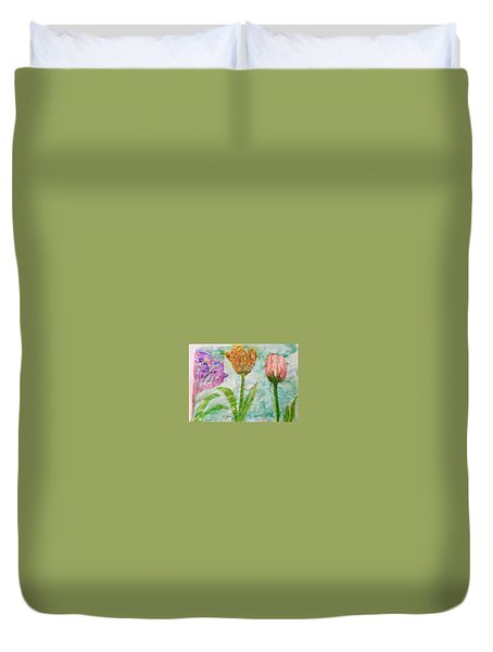Tulips A'bloom Duvet Cover