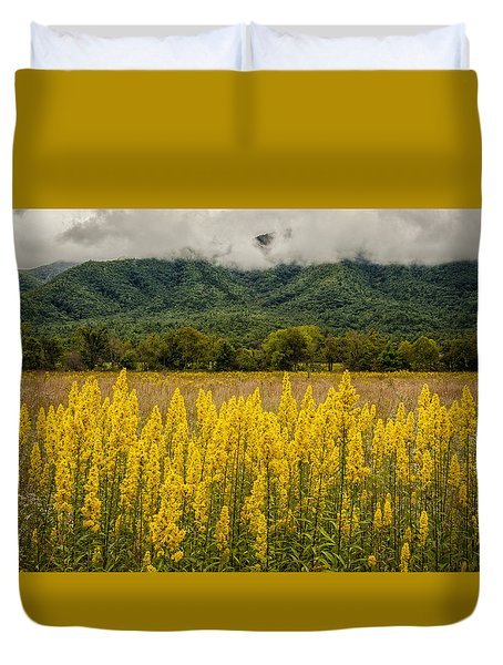 Flowers In Cades Cove Duvet Cover