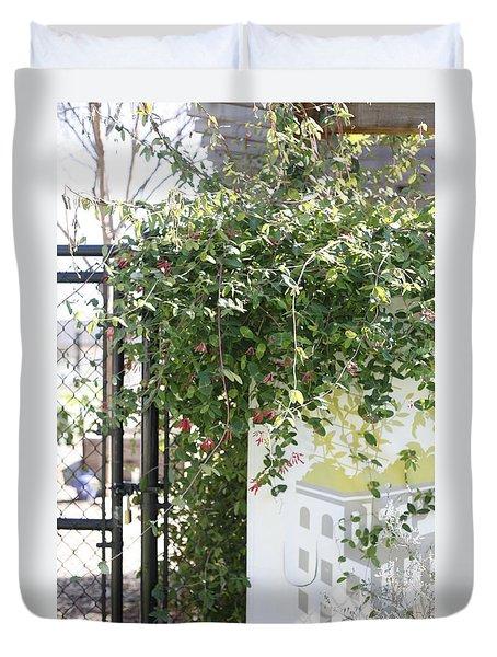 Flowers In Deep Ellum Duvet Cover