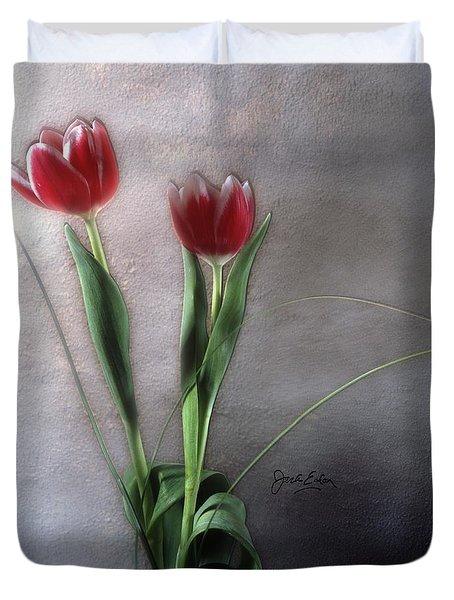 Flowers In Light Duvet Cover by Jack Eadon