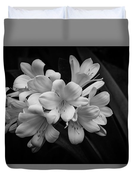 Flowers In Light Duvet Cover by Ray Congrove