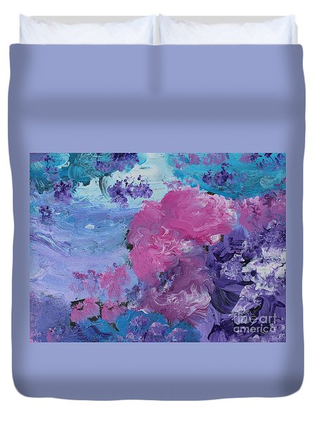 Flowers In The Clouds Duvet Cover
