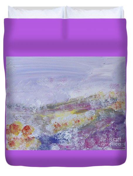 Flowers In The Ether Duvet Cover