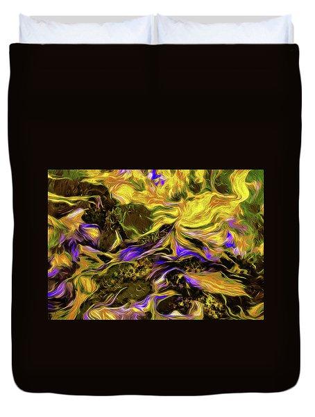 Flowers In The Garden Duvet Cover