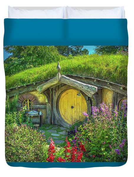 Flowers In The Shire Duvet Cover