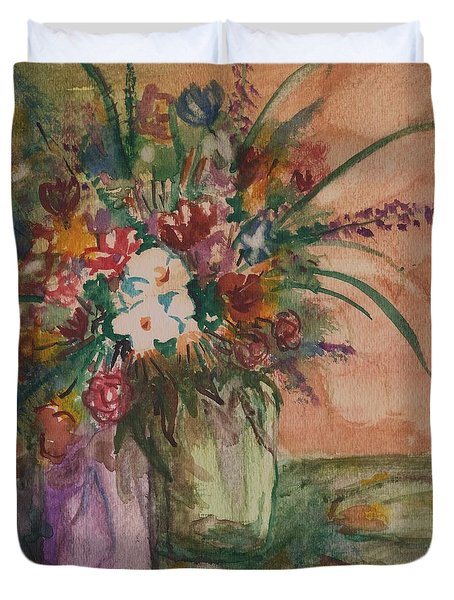 Flowers In Vases 2 Duvet Cover