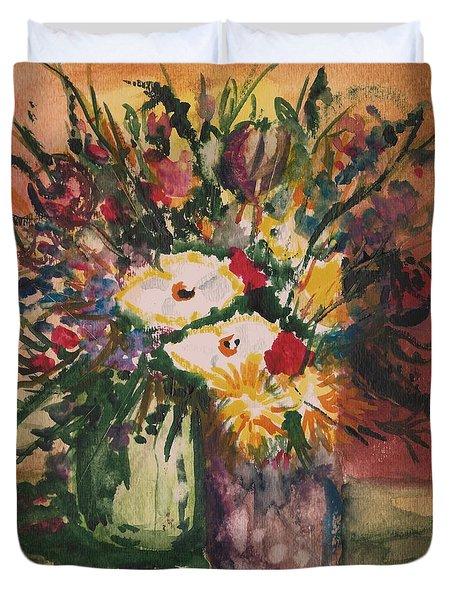 Flowers In Vases Duvet Cover
