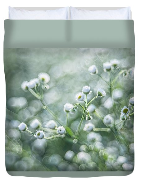Duvet Cover featuring the photograph Flowers by Jaroslaw Grudzinski