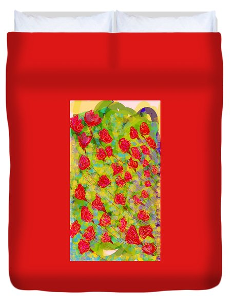 Flowers Duvet Cover by Khushboo N