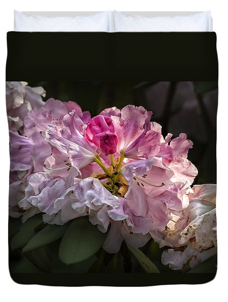 Flowers Late Afternoon Light Duvet Cover