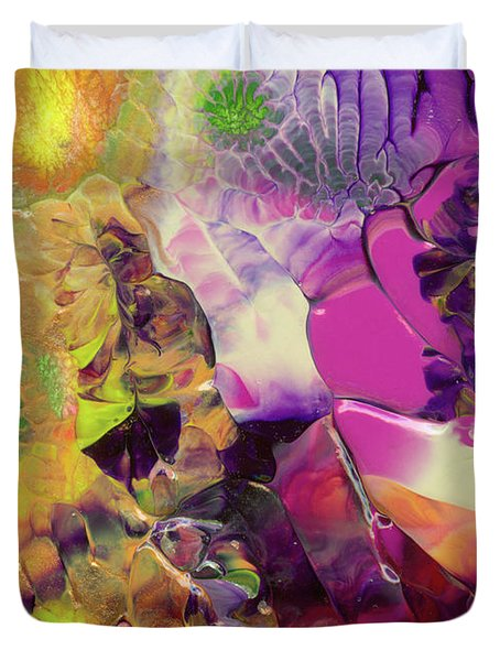Flowers Of The Cosmic Sea Duvet Cover