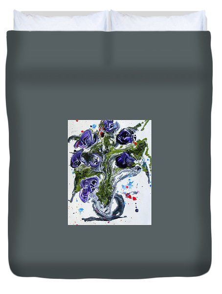 Flowers Of The Mind Duvet Cover