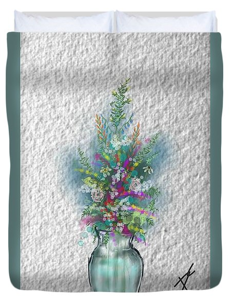 Flowers Study Two Duvet Cover by Darren Cannell