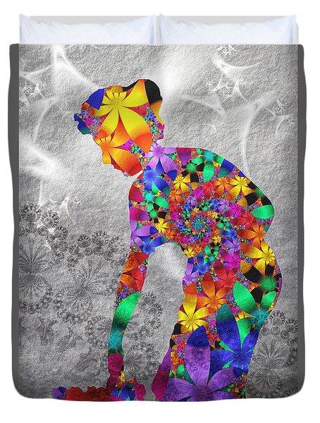 Flowerwoman Duvet Cover