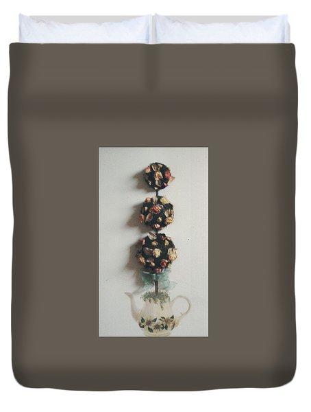 Flowery Teapot Duvet Cover