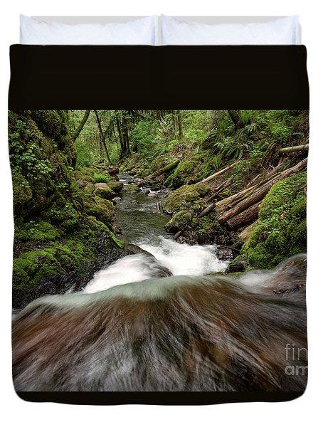 Flowing Downstream Waterfall Art By Kaylyn Franks Duvet Cover