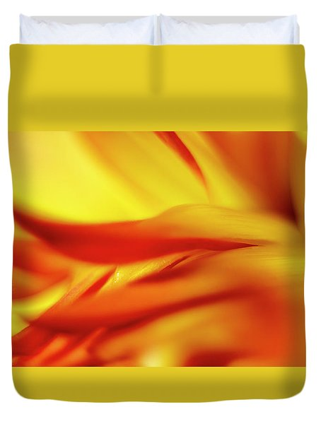 Flowing Floral Fire Duvet Cover by Tony Locke